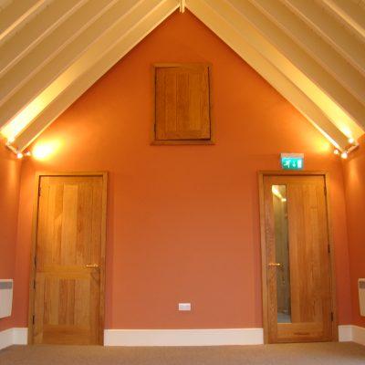 Bespoke internal wooden church doors