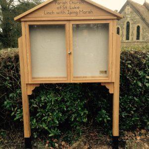 Bespoke wooden notice board by Milland Joinery