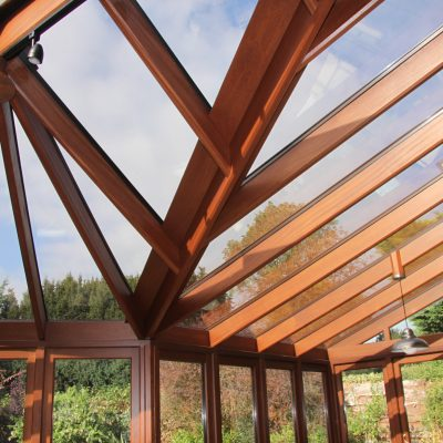 Bespoke wooden roof by Milland Joinery