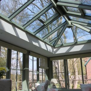 Bespoke wooden roof light by Milland Joinery