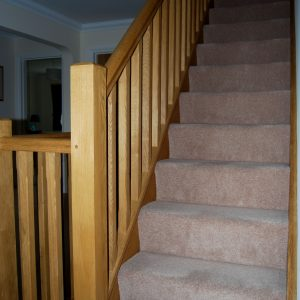 Bespoke wooden staircase by Milland Joinery