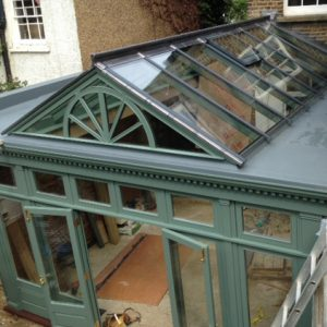 Bespoke wooden conservatory by Milland Joinery