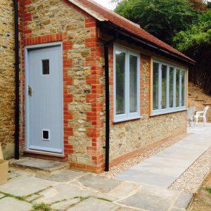 Bespoke wooden door for extension