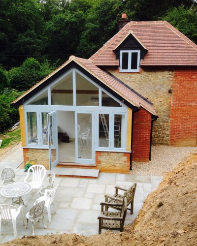 Bespoke wooden windows and doors for extension