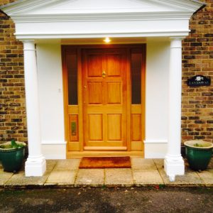 Bespoke wooden front door