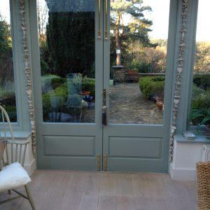 Bespoke orangerie wooden doors