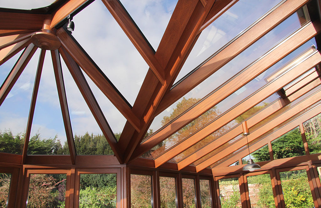 Wooden conservatory roof
